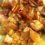 Chicken with Barley & Pecans